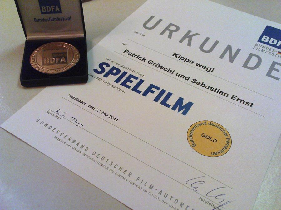 Urkunde Bundesfilmfestival Wiesbaden